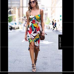 NWT ASTR the label tropical Josefina wrap dress M
